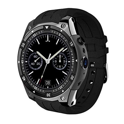SanQing Smart Bluetooth Sports Watch, Fitness Tracker Heart Rate Monitor IP67 Waterproof Healthy Sleep Activity Pedometer HD Camera,Black (512 Mb Mp3 Watch)
