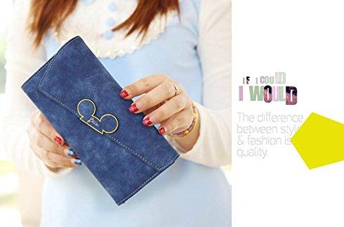 WTUS Mujer Nueva Cartera De Escarcha Mickey Cabeza Inclinada Cubierta Billeteras Bolsos De Mujeres Más Del Triple azul1