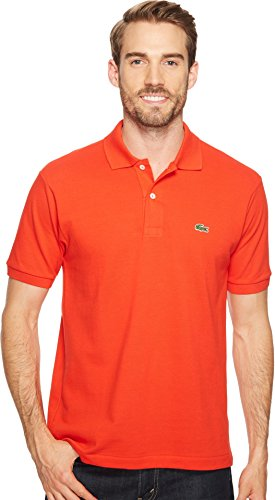 Lacoste Men's Short Sleeve Pique L.12.12 Classic Fit Polo Shirt, L1212, Corrida, XL
