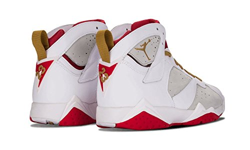Jordan Air Jordan 7 Retro Yotr Year Of The Rabbit Zapatillas De Moda Para Hombre Blanco Plata / Metalizado Oro-rojo 459873-005