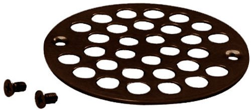 Westbrass 4'' O.D. Sold Brass Shower Strainer Cover, Oil Rubbed Bronze, D3192-12 by Westbrass