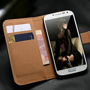 Stand Wallet Leather Flip Case Best For Samsung Galaxy S4 i9500 with 2 Card Holder 2 Styles For Galaxy S4 10 Pcs/lot --- Color:orange of style 2