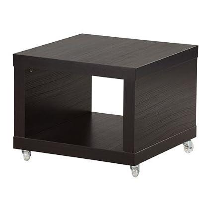 Tavolo Con Ruote Ikea.Ikea Tavolino Su Ruote Nero Marrone 55 X 55 Cm Amazon It