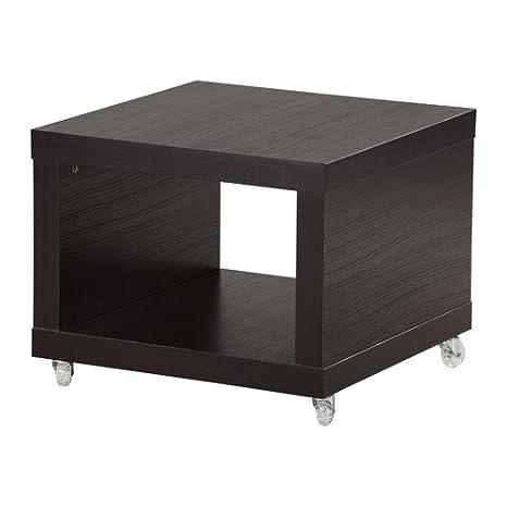 Lack Tavolino Con Rotelle Ikea.Ikea Tavolino Su Ruote Nero Marrone 55 X 55 Cm Amazon