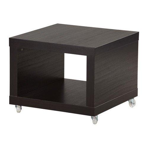 Amazon De Ikea Lack Beistelltisch Auf Rollen Schwarzbraun 55 X