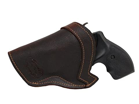 New Barsony Brown Leather IWB Holster for S&W 38 Airlight right
