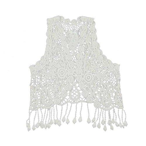 MIOIM Crochet Hollow T shirt Tassel