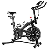 Indoor Exercise Bikes Stationary – Cycling Bike with Adjustable Resistance and Comfortable Seat Cushion