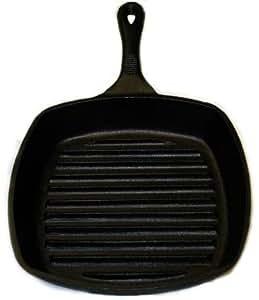 Amazon Com Emeril Cast Iron 10 Inch Square Grill Pan