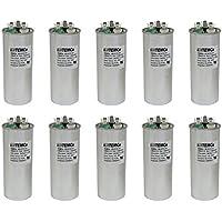 TEMCo 10 LOT Dual Run Capacitor RC0122 - 50/5 mfd 370 V 440 V VAC volt 50+5 uf AC Electric Motor HVAC