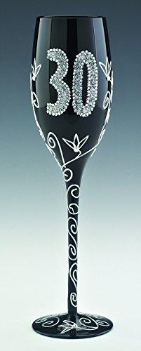 Boxer GWC130 - Copa de champán, diseño con número 30, color negro
