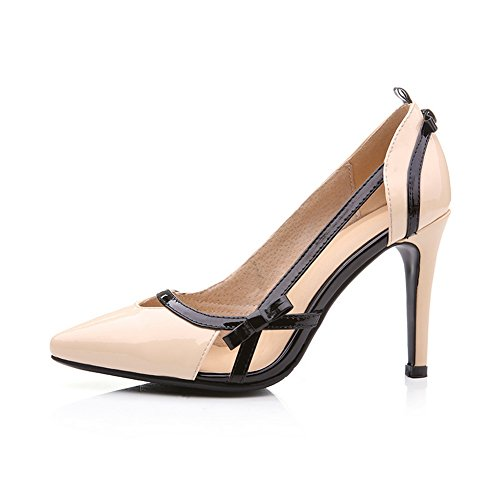 1TO9 Womens Spikes Stilettos Pointed-Toe Low-Cut Uppers Apricot Leather Sandals MMS03515-5.5 UK 7DoIHcZl