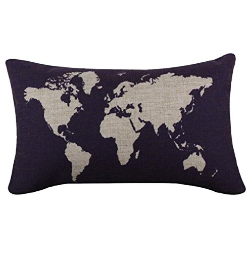Vovotrade Linen Square Throw Flax Pillow Case Decorative Cushion Pillow Cover 12
