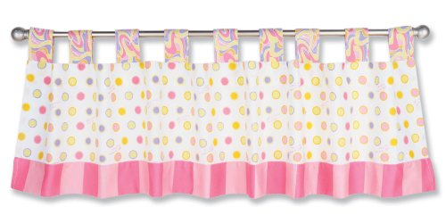 Trend Lab Dr. Seuss Window Valance, Oh! the Places You'll Go! Pink