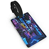 Luggage Tag Tokyo S Blade Runner Vibes By Frorezxc Travel Accessories Suitcase Tags Identifiers Business ID Tags Baggage Tags