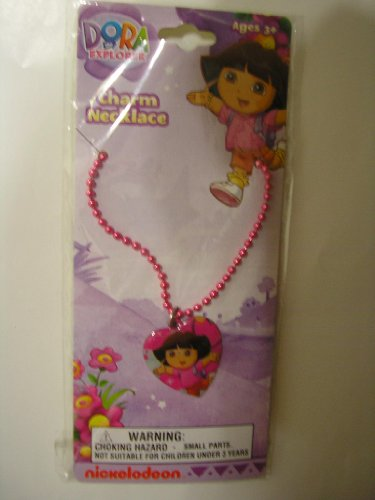 Kathys Heart Necklace - Dora Necklace - Thin chain w/Heart charm - assorted colors by Nick Jr.