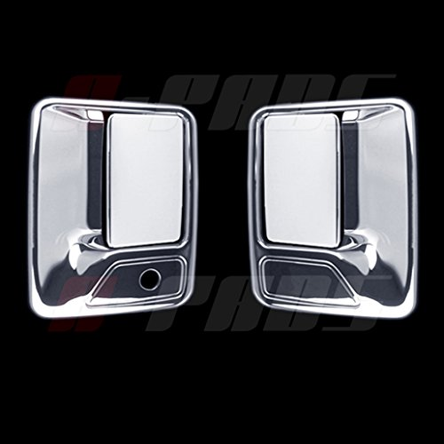 A-PADS Chrome 2 Door Handle Covers For Ford F-250, F-350, & F-450 + Super Duty 1999-2016 - WITHOUT Passenger Keyhole