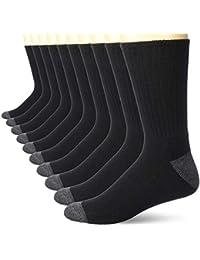 Men's 10-Pack Cotton Half Cushioned Crew Socks