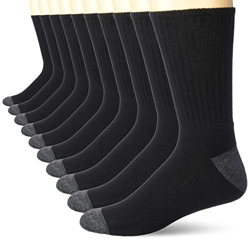 Amazon Essentials Mens 10-Pack Cotton Half Cushioned Crew Socks
