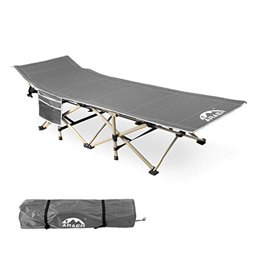 Camping Cot, 450LBS Max Load , Portable Foldable Outdoor Bed with Carry Bag for Adults Kids, Heavy Duty Cot for Traveling Gear Supplier, Office Nap, Beach Vocation and Home Lounging