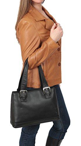 Borsa Da Donna In Pelle Nera Borsa Da Lavoro A Spalla Da Lavoro Casual Bag Bellevue
