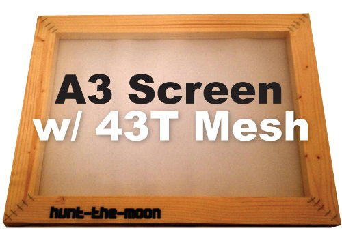 A3 Silk Screen 43T mesh Wooden Frame for Screen Printing Hunt-The-Moon