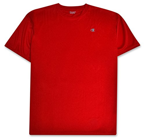 Champion Mens Big and Tall Active Performance T Shirt with Moisture Wicking Technology RED (Best Champion Compression Shirts For Men)