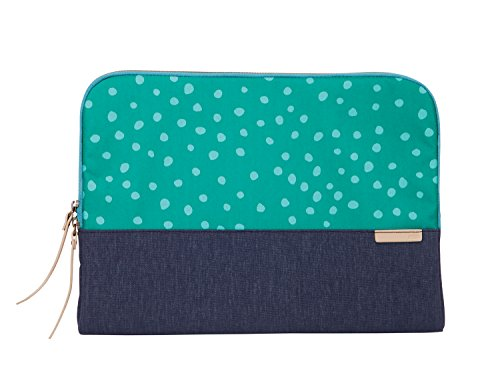 STM Grace, Women's Laptop Sleeve for 13-Inch MacBooks and Ultrabooks - Teal Dot/Night Sky (stm-114-106M-47) Laptop Sleeve Dot