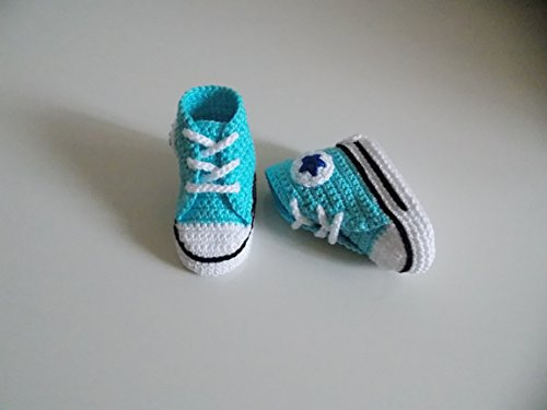 Baby Booties Pattern (Crochet Pattern Converse All Star baby)