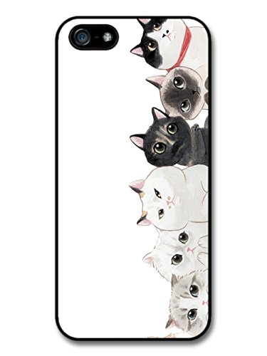 Group of Cute Cats Illustration with Big Beautiful Eyes case for iPhone 5 5S