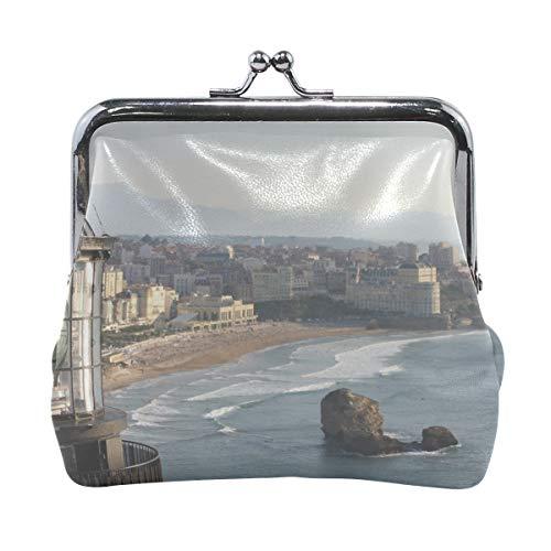 Your Home Coin Purse Biarritz Lighthouse France Sea View Print Wallet Exquisite Clasp Coin Purse Girls Women Clutch Handbag