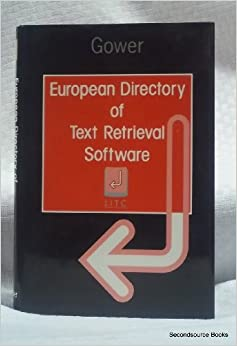 Book European Directory of Text Retrieval Software