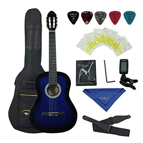 Bailando 36 Inch 3/4 Size Student Beginner Classical Nylon String Acoustic Guitar Starter Pack – Blueburst