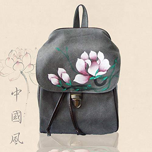 D Double Nouveau Fleur Main Toile Sac la Style Main Sac Chinois Dos bandoulière à Sac bandoulière Double à A à à Sac TT Fait SApwgqxU