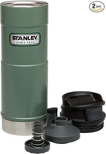 Stanley Classic One Hand Vacuum Mug (Hammertone Green (2 pack), 16oz) ()