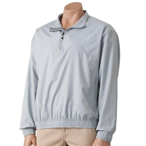 Grand Slam Jacket - Grand Slam Men's 1/4-Zip Pullover Windbreaker (XLT, Quarry)