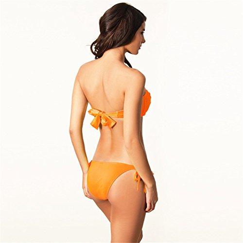 o-c la nueva superior de las mujeres Bikini Sets Anaranjado