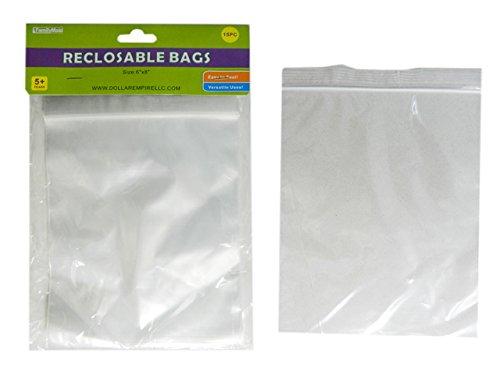 15 PC Reclosable Bags Size: 6'' x 8'' , Case of 144