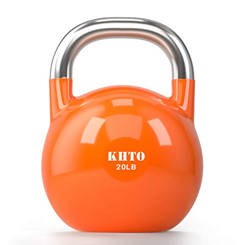 KHTO Kettle Bells – Competition Kettlebell 50 LB – Professional Grade Kettlebell for Fitness, Weightlifting, Core…