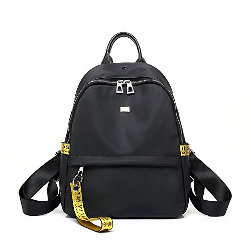 Mochila de moda coreana todo coinciden estudiantes contratados Oxford package negra y amarilla. Black and yellow