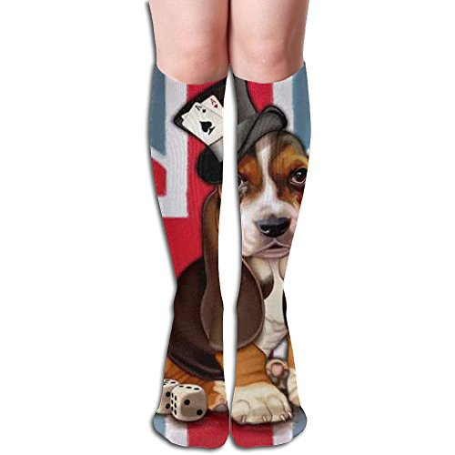 UK Beagle Women Funny Polyester Cotton Boot Socks Winter Long Leg Warmers Stockings Casual Long Socks