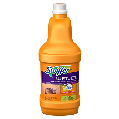 UPC 037000912286, Swiffer Wetjet Multi-Purpose Floor Cleaner Solution Refill, Sweet Citrus and Zest, 1.25 Liters