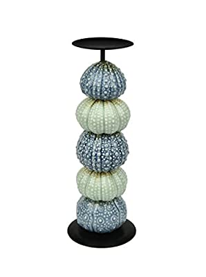 Dechiry Urchin Candle Holder,Blue and Turquoise mixed