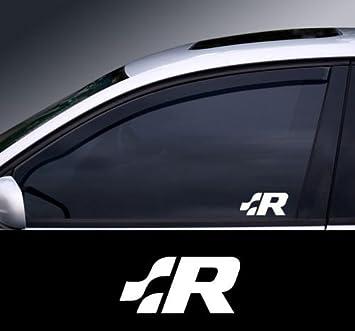 2x Volkswagen Vw R Line 10cm Aufkleber Sticker Auto R32 R33 Rline