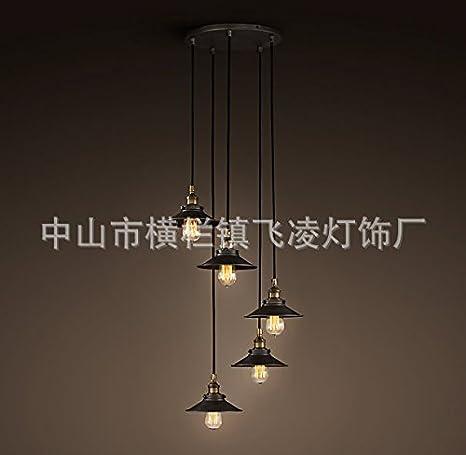 Caribou techo lámpara de techo lámpara colgante de hierro ...