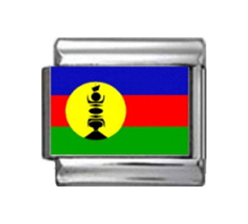 Stylysh Charms New Caledonia Flag Photo Italian 9mm Link - Italian New 9mm Photo Charm