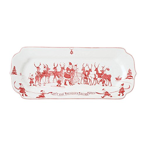 Juliska Ce Reindeer Games Ruby Hostess Tray ()