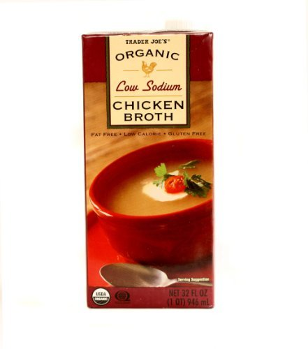 Trader Joe's Organic Low Sodium Chicken Broth 32 fl oz by Trader Joe's