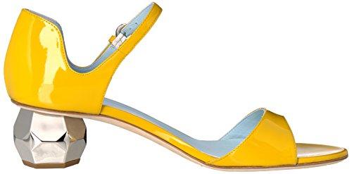 Frances Valentijn Vrouwen Bella Hakken Sandaal Geel Patent