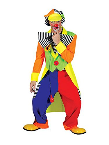 Mens Spanky Stripes Clown Costume STD (Clown Tailcoat Costume)